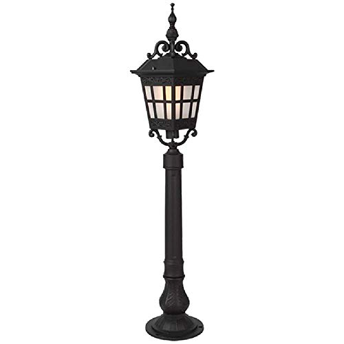 88CM High Pole Road Lamps Lawn Floor Lights Outdoor Pillar Lamp Patio Landscape Street Light IP65 Waterproof Safety Modern Garden Decor Lamp Fence Pillar Lamps Terrace Villa Column Post Bollard Lights