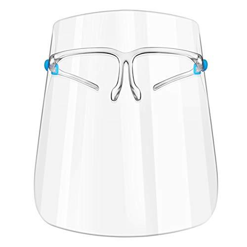 PRETYZOOM Écran Facial Transparent en Plastique Couvercle Facial Garde pour Les Femmes Adultes Adolescents Coupe-Vent Étanche à La Poussière Chapeau de Couverture Complète