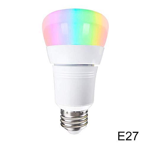 Loopunk E27 / E14 / B22 15W Bombilla Inteligente Control de luz LED Colorida para Google Home Office Amazon Alexa