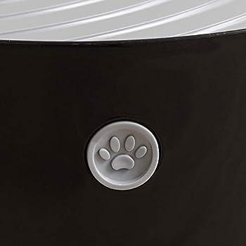 Iris Ohyama, Maison de toilette / bac à litière fermé avec entrée par le haut et couvercle à rainures, grande entrée L26.7 x l22.9 cm, pelle incluse, pour chat - Cat Litter Box Jump-in PUNT-530 - Noir