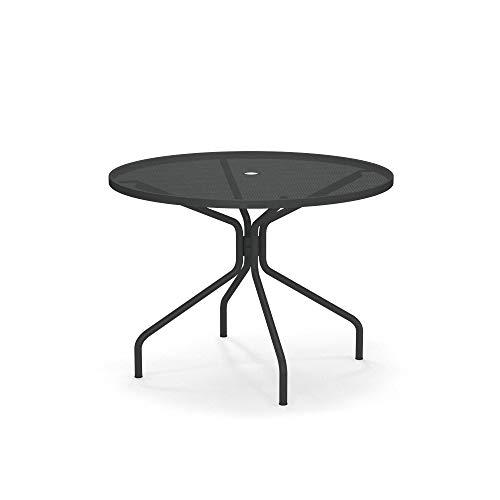 EMU Table extérieure Cambi Diamètre 106 cm Art. 804 Couleur Gris Antique – Fabriquée en Italie