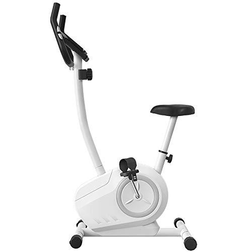 YLJYJ Bicicleta estática de ciclismo para interior, súper silenciosa, con pantalla LCD de 8 niveles de resistencia, pulsómetro, sensor de pulsaciones, fitness, bicicleta de carrera