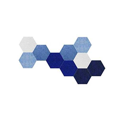 ZB-KK SZQ-Pannelli Colorato Hexagon Felt Tiles raad Enterprise Avviso Memo bulletin boards familie vilt tegels voor fotodisplay met totaal absorberende pads