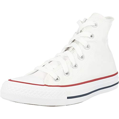 Converse Clothing & Apparel Chuck Taylor All Star Canvas High Top Sneaker, Optical White, 8.5 Women/6.5 Men