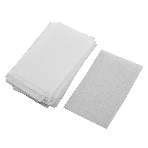 sourcingmap Salon Maison Blanc Non tissu tissé Paré Poils Papier 35Pcs