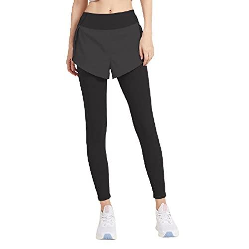 Yoga Fitness Jogging y pantalones de golf,Pantalones de yoga de cintura alta para levantar la cadera,pantalones deportivos elásticos para fitness-negro_XL,Leggings deportivos clásicos leggings largos