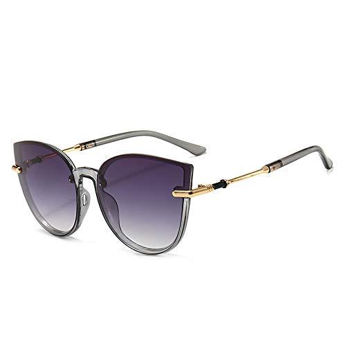 SONGYUAN Gafas De Sol Personalizadas Cat Eye Fashion Gris