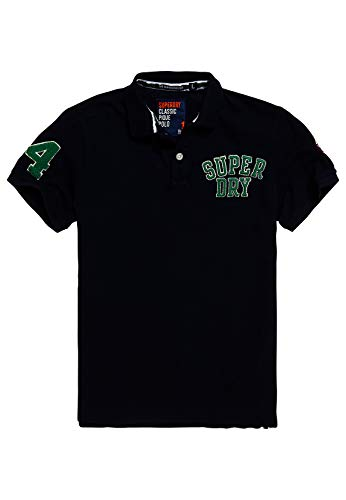 Superdry Polo heren OLDSKOOL SUPERSTATE Pique Polo Highland Navy