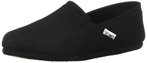 TOMS womens Redondo Loafer Flat, Black, 7.5 US