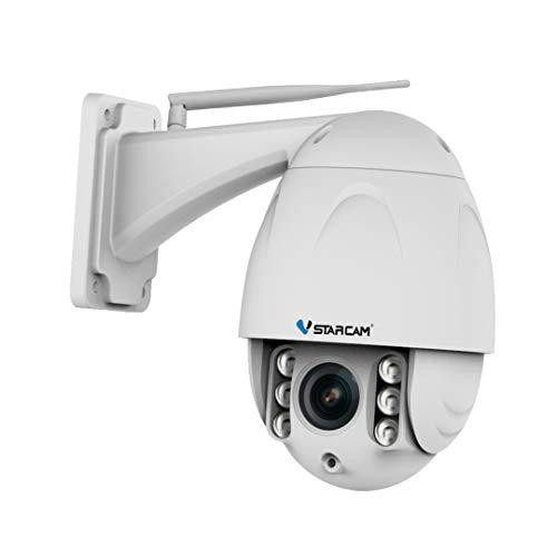 Vstarcam - Cámara 360 Inteligente de Seguridad IP WiFi giratoria con Zoom x4 a través del telefono móvil Cámara para Exterior con Almacenamiento en Nube y Tarjeta SD. no Necesita NVR