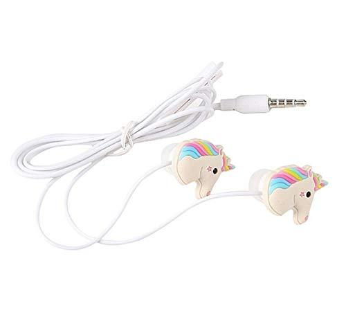 Lindos Auriculares de Unicornio con Auriculares de música con Cable y micrófonoAzul