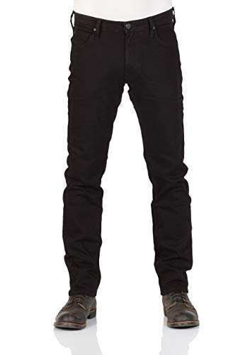 Lee Herren Daren Zip Fly Jeans, Black Rinse, 36W / 36L