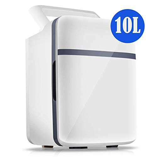 10L Mini kühlschrank gefrierschrank, kühlung heizung 12 V / 220 V tragbarer kühlschrank reisekühlschrank Camping selbstfahrende Tour, weiß