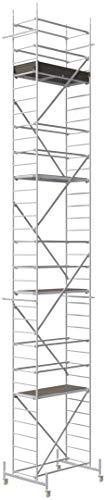 ALTEC Rollfix® 1.0 1000 | 10m AH | Rollen (Ø125mm) | Standardtraverse | Made in Germany | TÜV&GS | belastbar 200kg/m² | Alu Arbeitsgerüst | Baugerüst | Fahrgerüst