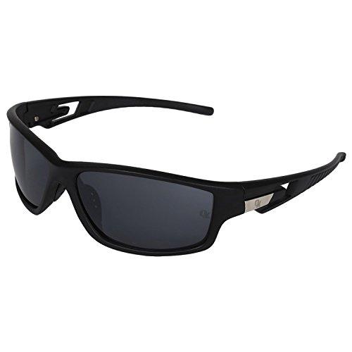 Opticalskart Gafas de sol deportivas de plástico negro y azul