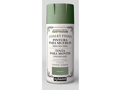 Rust-Oleum Spray Chalky Finish Oliva 400 ML BRUGUER, Negro