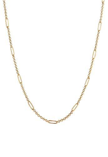 Elli PREMIUM Collares Cadena Elegante Blogger hecha en plata de ley 925 bañada en oro