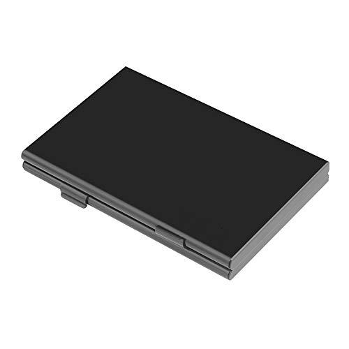 SDカードケース SDカード 収納 アルミ製 薄型 大容量 microSDカード TFカード メモリー カードケース 両面 収納 18枚 (SDカード6枚 + microSDカード12枚) 小型 マイクロカード 保護 専用 コンパクト メディアケース 軽量 防塵 防震 持ち運びやすい ブラック