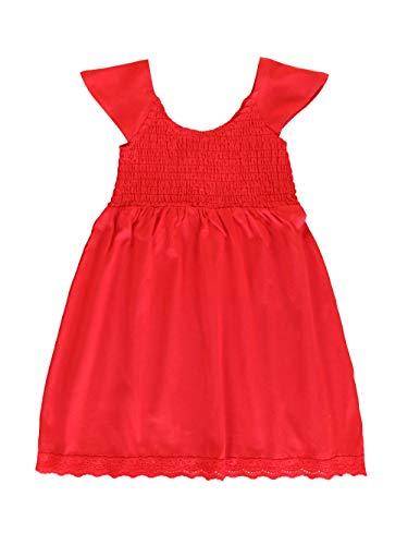 Lemon Beret Small Girls Dress Vestido, Tomato Puree, 5 años para Niños