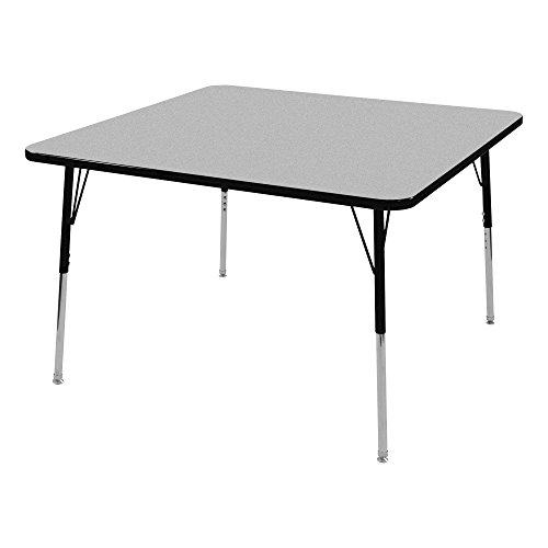 Norwood Commercial Furniture 30 x 60 Trapezoid Activity Table Light Oak Top NOR-FS849LO3060TBK0-SO Black Edge Band