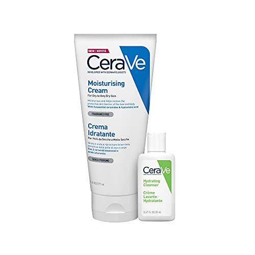 Cerave Crema Idratante Viso e Corpo 177ml + Detergente Idratante 20ml