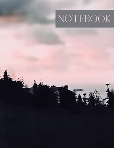 Notebook: Lined Notebook Journal - Rosy Horizon - 120 Pages - 8.5 x 11 inches (Island Collection)