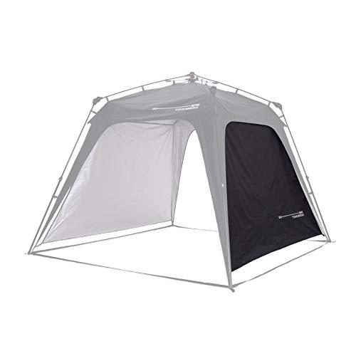 Lumaland Outdoor Seitenteil für Pop Up Pavillon Seitenwand für Gartenzelt Camping Partyzelt Zelt schwarz