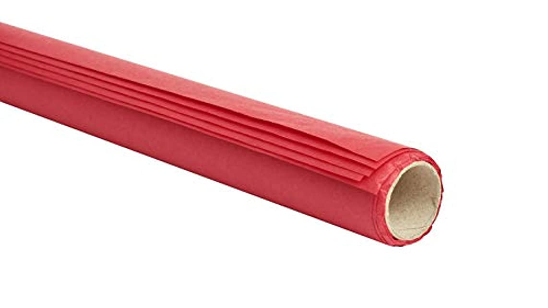 Glorex Flower Silk 20g/m 6?Rolled Sheets, Ruby Red, 2.5?x 2.5?x 50?cm 50?x 70?cm