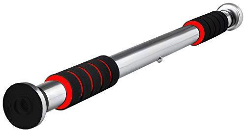 Barra de Dominadas Flexiones de barbilla Deporte Entrenamiento Acero Ejercicio casero de servicio pesado ajustable 83cm- 130cm 5244