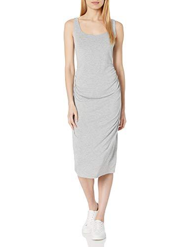 Daily Ritual Women's Maternity Shelf Bra Dress, Grey, M
