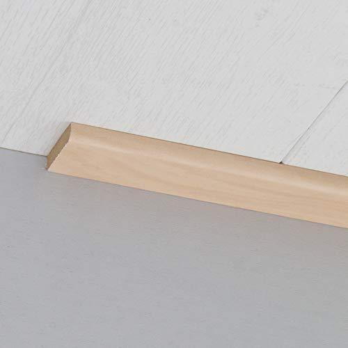 Abdeckleiste Abschlussleiste Sockelleiste Rundprofil aus MDF in Silber Ahorn 2600 x 6 x 25 mm