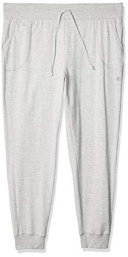 Champion Women's Jersey Pocket Pant, Oxford Gray, Large