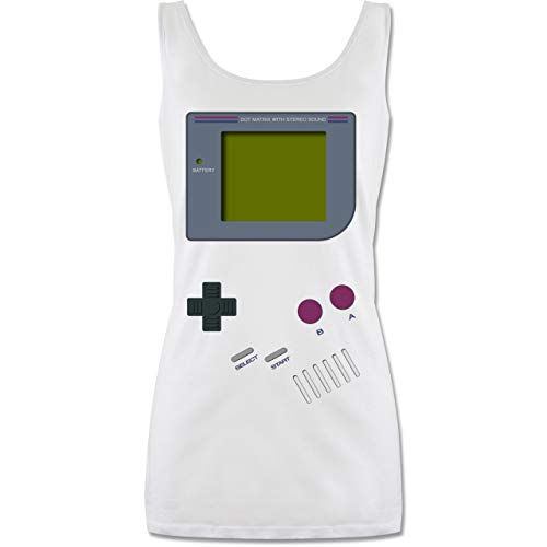 Shirtracer Nerds & Geeks - Gameboy - S - Weiß - 90er Jahre Outfit Damen - P72 - Tanktop für Damen und Frauen Tops