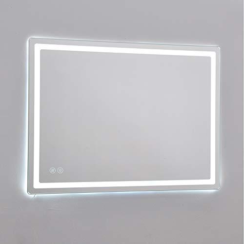KINGFINE Verlichte LED Badkamer Spiegel Touch Controle Schakelaar Licht met bulit-in Verwarmde Demister pad IP44 beoordeeld