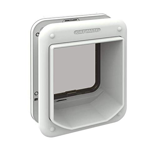 Cat Mate Microchip activated Cat Flap | for up to 30 Cats, White