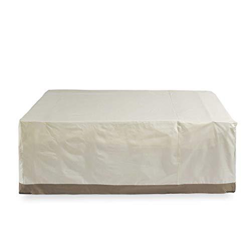 Lumaland Cubierta Lona Protectora Impermeable para Muebles de jardín 240 x 140 x 90 cm Oxford 600D 280 g/m² Beige