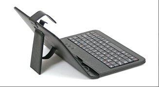 Funda con Teclado QWERTY en español (Incluye Letra Ñ) para Tablet LG Gpad V700 10.1' - Negro