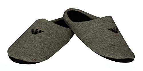 Emporio Armani Zapatillas Mujer Homewear artículo XJPW01 XM611 Slippers, N270 Mid Grey + Blk + Blk, EU 37/38 - UK 5 - USA 5,5 - CN 241/86
