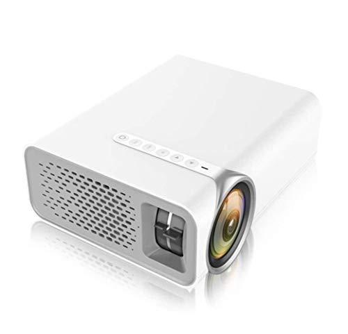 SMSOM Mini proiettore, proiettore cinematografico con Schermo Synchronize Smartphone con Supporto 1080P Supporto per videoproiettore Supporto TV Stick, HDMI, VGA, USB, Laptop e Telefono