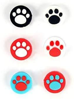 6 agarres antideslizantes de silicona para pulgar para Nintendo Switch Poke Ball Plus Pokeball NS Baoke Dream Elf Ball Plus (5# Color)