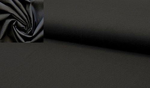 StoffBook SCHWARZ BAUMWOLL-BATIST VOILE VOILESTOFF REINE BAUMWOLLE STOFF STOFFE, D470