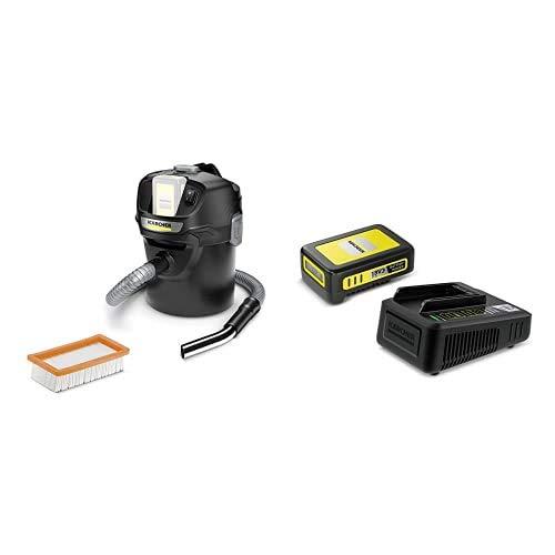 Kärcher Starter Kit Battery Power 18/25 (18 V / 2,5 Ah Battery Power-Wechselakku, 18 V Schnellladegerät, für alle Geräte der Kärcher 18 V Battery Power Plattform) + Kärcher 1.348-300.0 AD 2 Battery