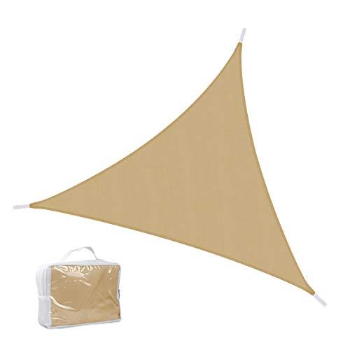 Sang Lory 3x 3m Tres Toldo Triangular Sol protección Toldo, protección UV Resistente al Agua Toldo para jardín, balcón, terraza, Color Sandfarbe, tamaño 3,6 x 3,6m