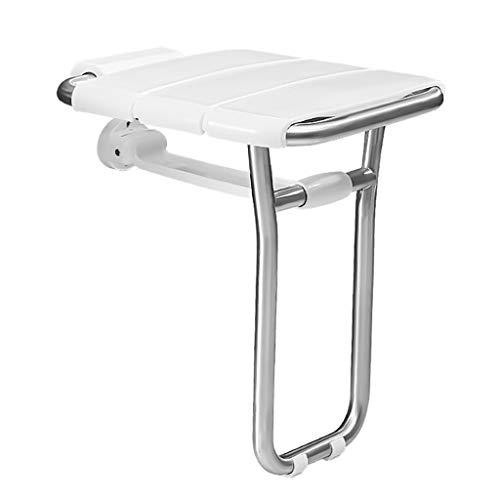 ZRN-Duschsitz Badesitz für die Wandmontage, zusammenklappbare Duschbänke, behindertengerechte Badezimmerwandstühle, Sitzhocker für ältere, behinderte, Schwangere Frauen, Traglast 300 kg
