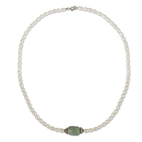 NOVICA Cultured Freshwater Pearl an…