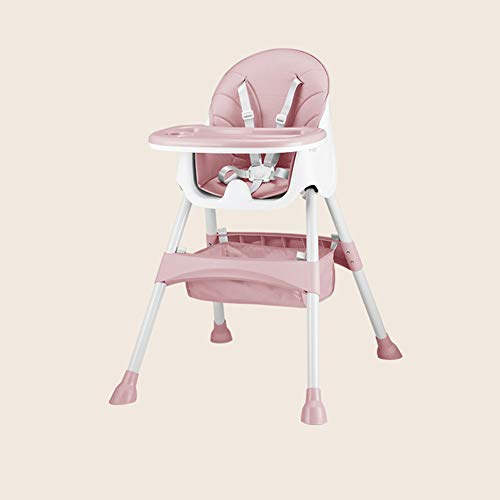 Check Out This ZZXHV Adjustable Baby Highchair,Removable Tray and Storage Basket, Space Saving Desig...