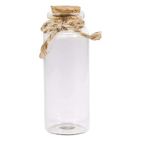 Rayher 46057000 glazen pot met kurk deksel, diameter 3 cm, 7,5 cm, 50 ml