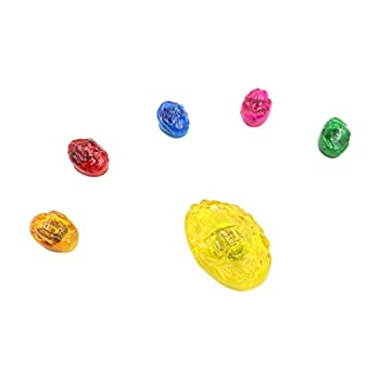 Bulex Infinity Gems 3 Flash Modes LED Light Up LED Removable Magnet Infinity Stones Replacement Accessories  Kid Size Gem