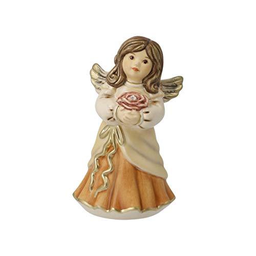 Goebel Engel Schutzengel Himmelsboten Porzellan, dekoriert mit echten Swarovski® Kristallen (Champagner-Christrose)