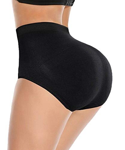 SEXYFROM Womens Shapewear Butt Lifter Padded Control Panties Body Shaper Brief Black